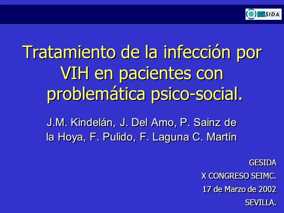 Tratamiento de la infección por VIH en pacientes con problemática psico-social.