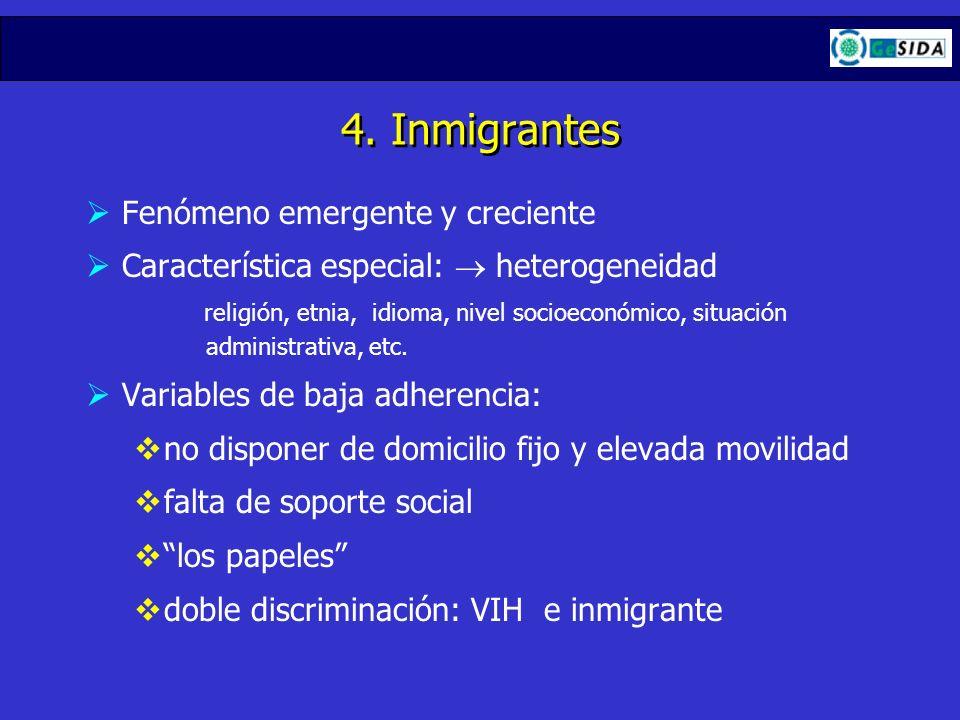 4. Inmigrantes Fenómeno emergente y creciente