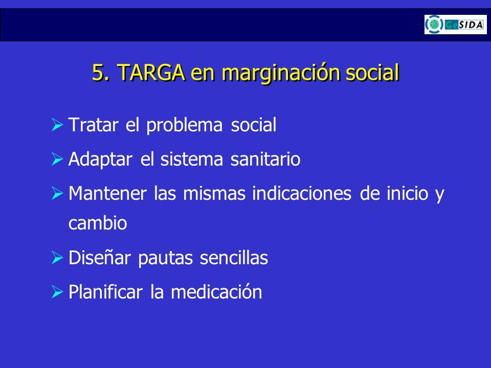 5. TARGA en marginación social
