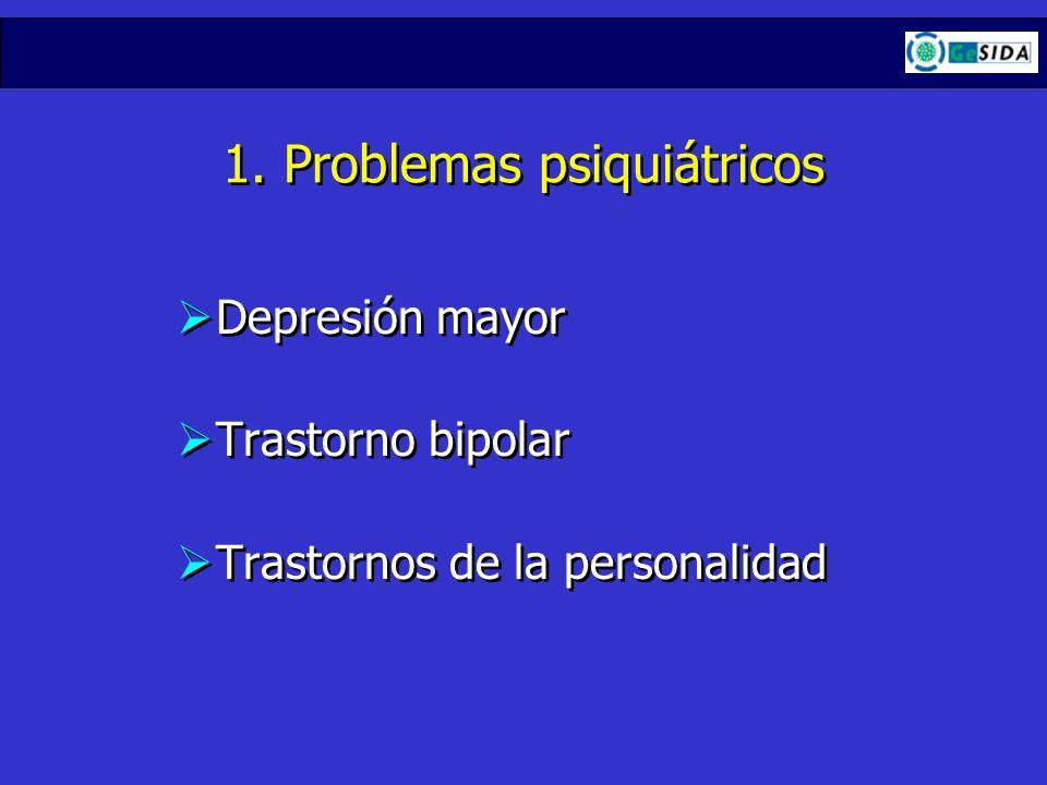 1. Problemas psiquiátricos