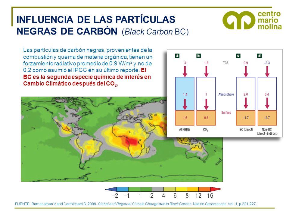 INFLUENCIA DE LAS PARTÍCULAS NEGRAS DE CARBÓN (Black Carbon BC)