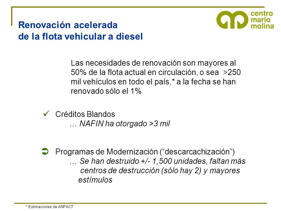 de la flota vehicular a diesel