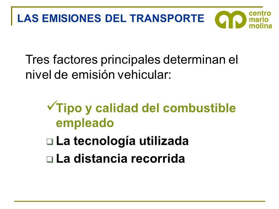 Tres factores principales determinan el nivel de emisión vehicular: