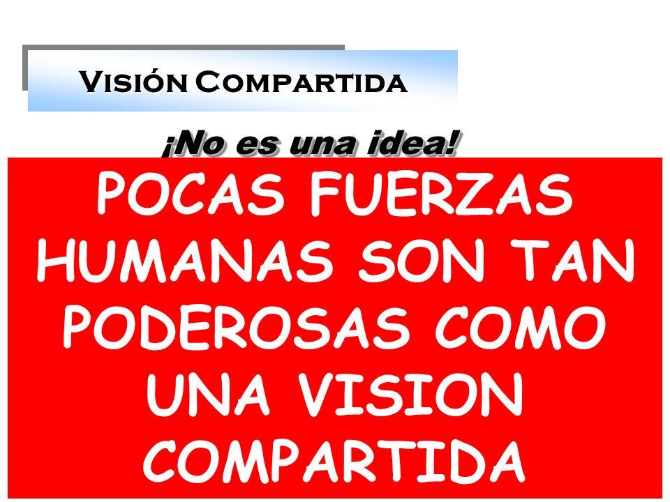 POCAS FUERZAS HUMANAS SON TAN PODEROSAS COMO UNA VISION COMPARTIDA