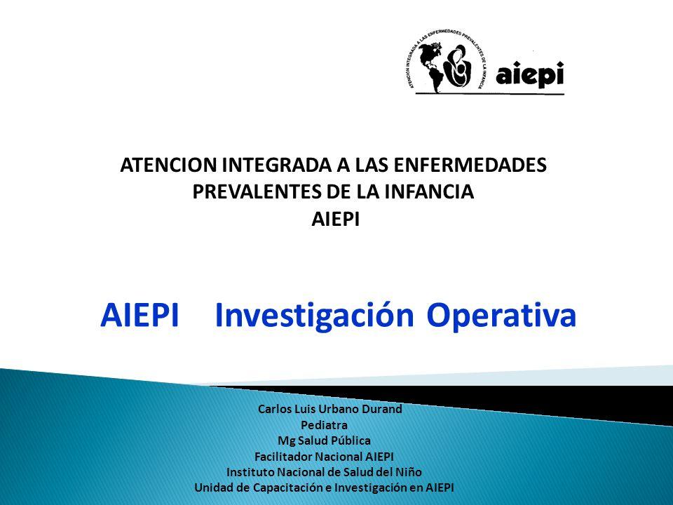 AIEPI Investigación Operativa