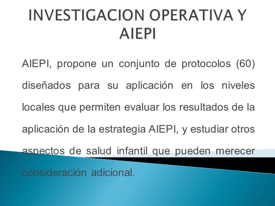 INVESTIGACION OPERATIVA Y AIEPI