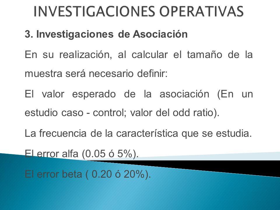 INVESTIGACIONES OPERATIVAS