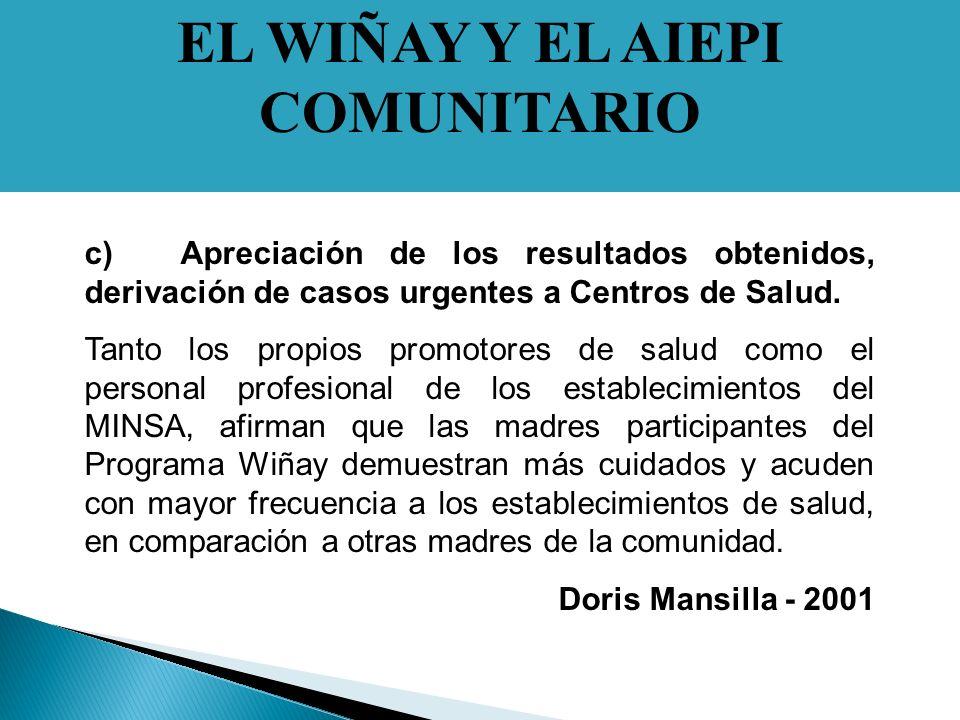 EL WIÑAY Y EL AIEPI COMUNITARIO