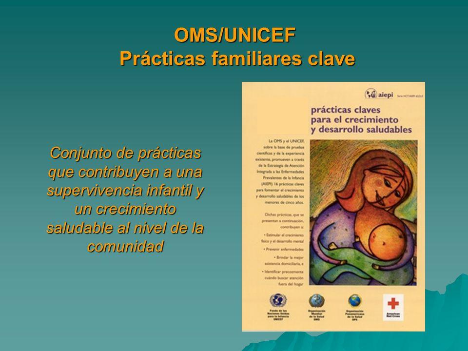 OMS/UNICEF Prácticas familiares clave