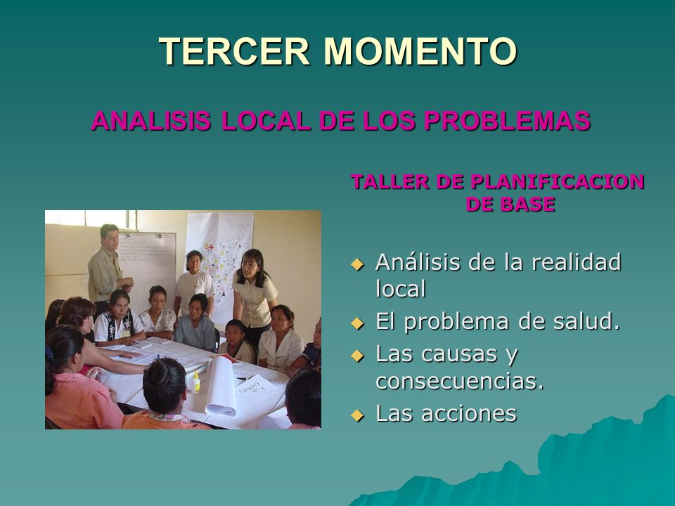 TERCER MOMENTO ANALISIS LOCAL DE LOS PROBLEMAS