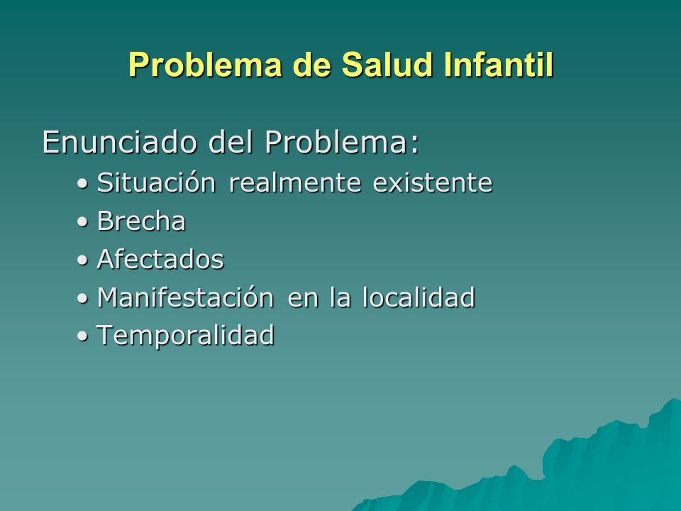Problema de Salud Infantil