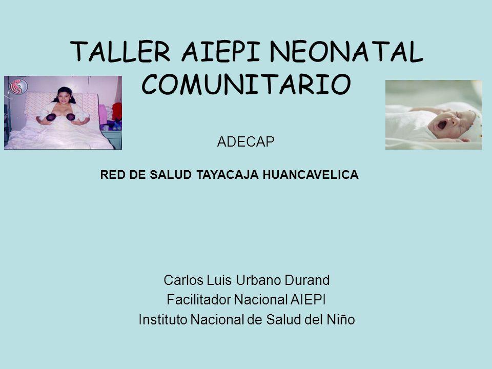 TALLER AIEPI NEONATAL COMUNITARIO ADECAP