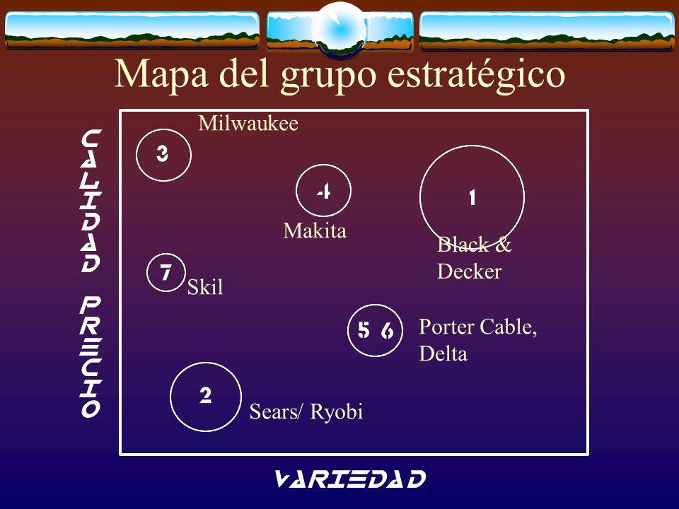 Mapa del grupo estratégico