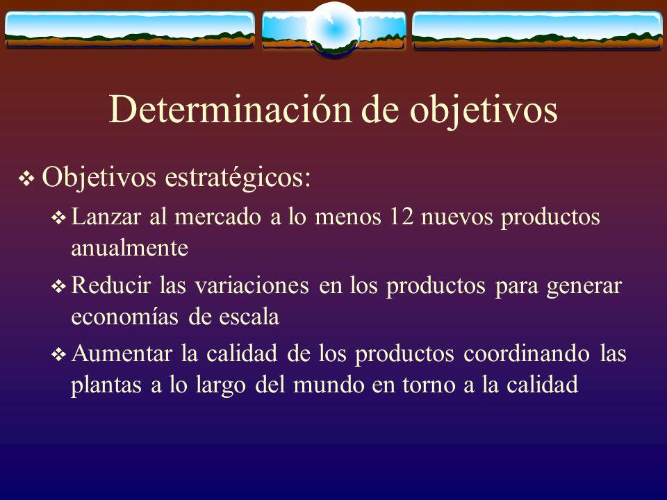 Determinación de objetivos