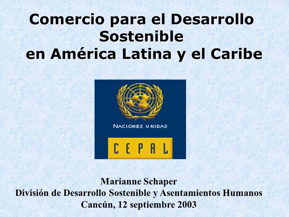 Comercio para el Desarrollo Sostenible en América Latina y el Caribe