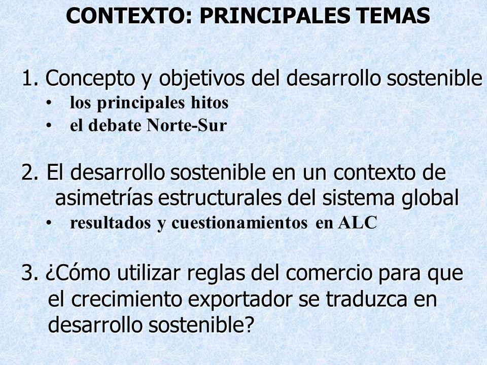 CONTEXTO: PRINCIPALES TEMAS