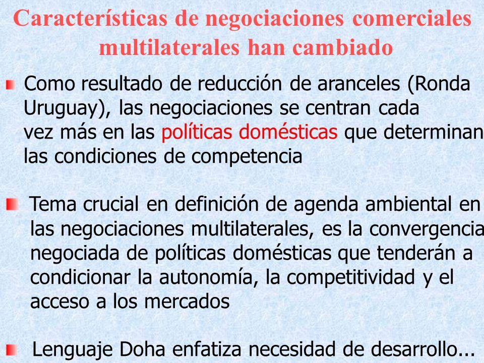 Características de negociaciones comerciales