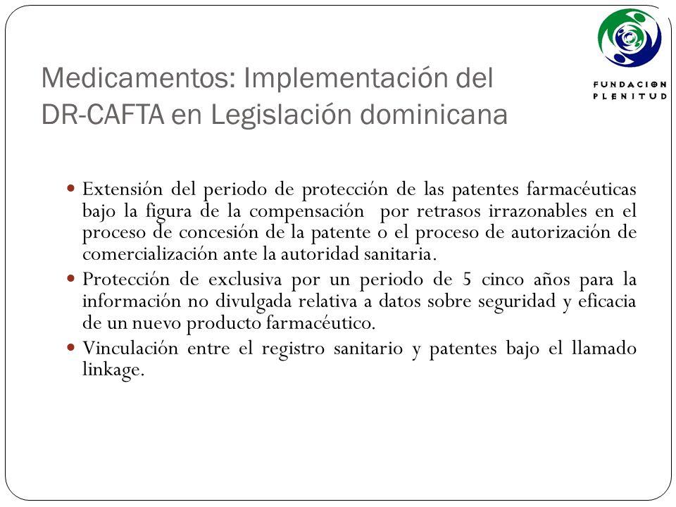 Medicamentos: Implementación del DR-CAFTA en Legislación dominicana