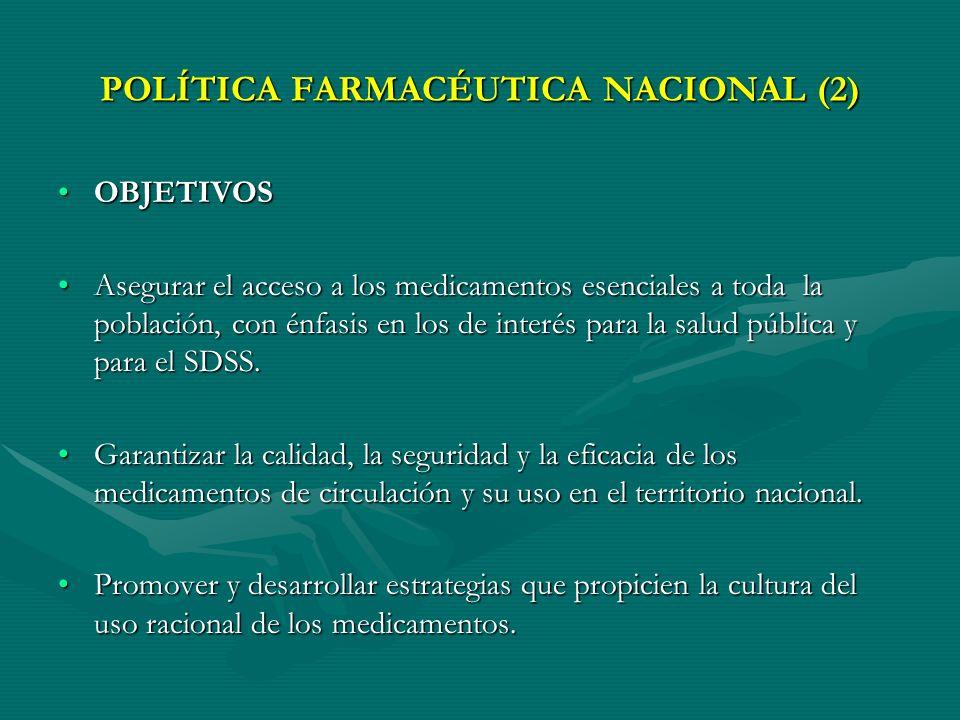 POLÍTICA FARMACÉUTICA NACIONAL (2)