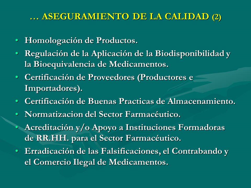 … ASEGURAMIENTO DE LA CALIDAD (2)