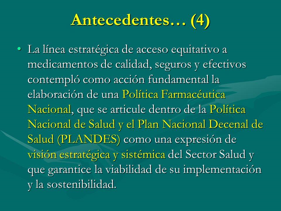 Antecedentes… (4)