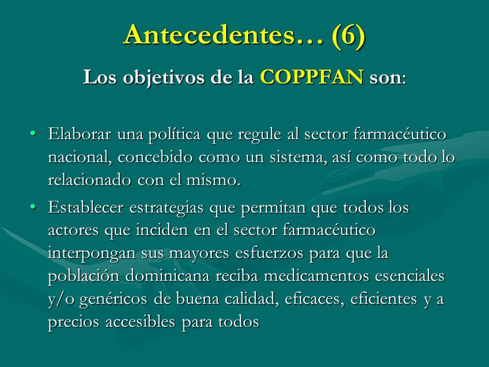 Los objetivos de la COPPFAN son: