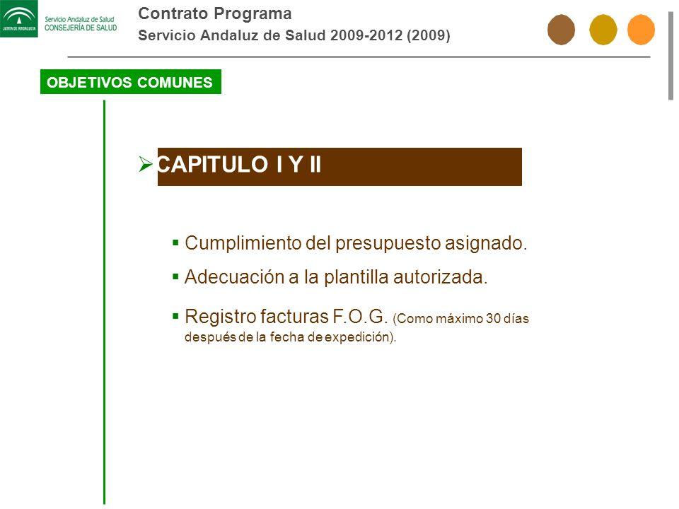CAPITULO I Y II Cumplimiento del presupuesto asignado.