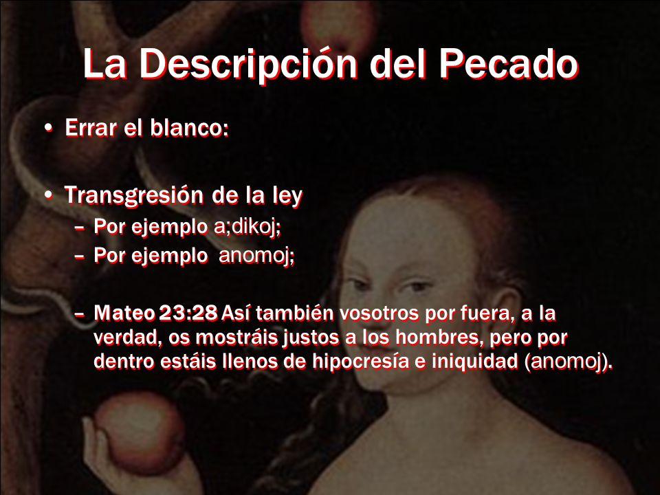 La Descripción del Pecado