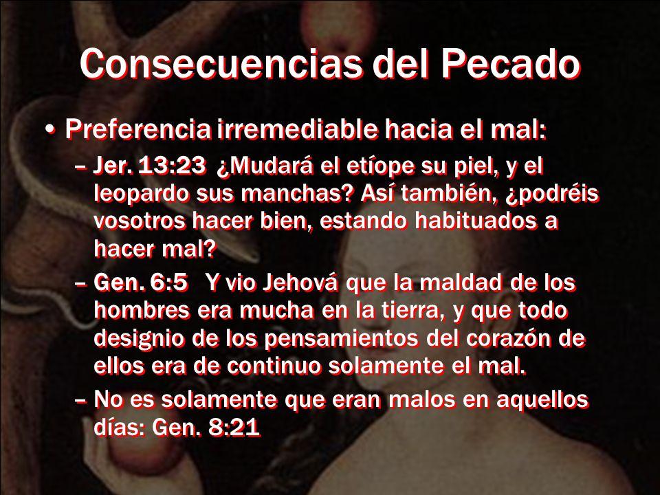 Consecuencias del Pecado