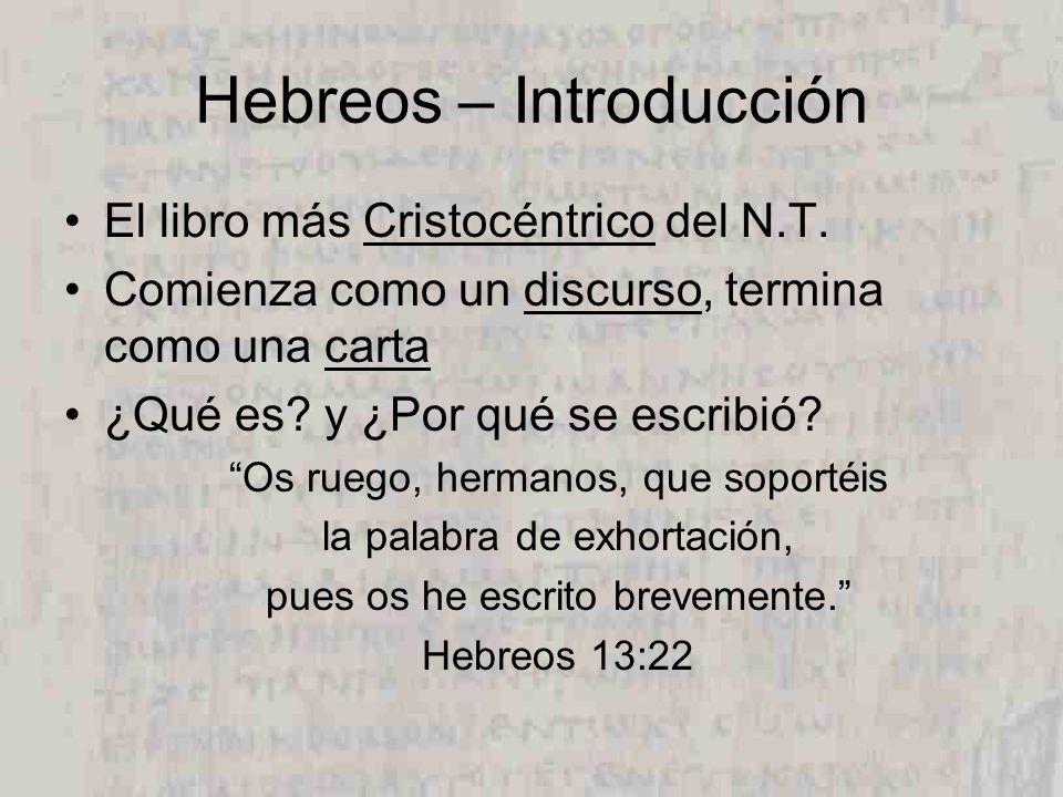 Hebreos – Introducción