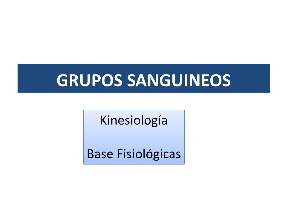 GRUPOS SANGUINEOS Kinesiología Base Fisiológicas
