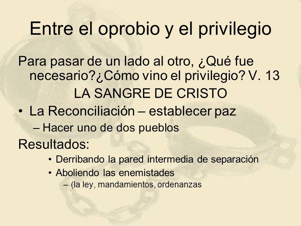 Entre el oprobio y el privilegio