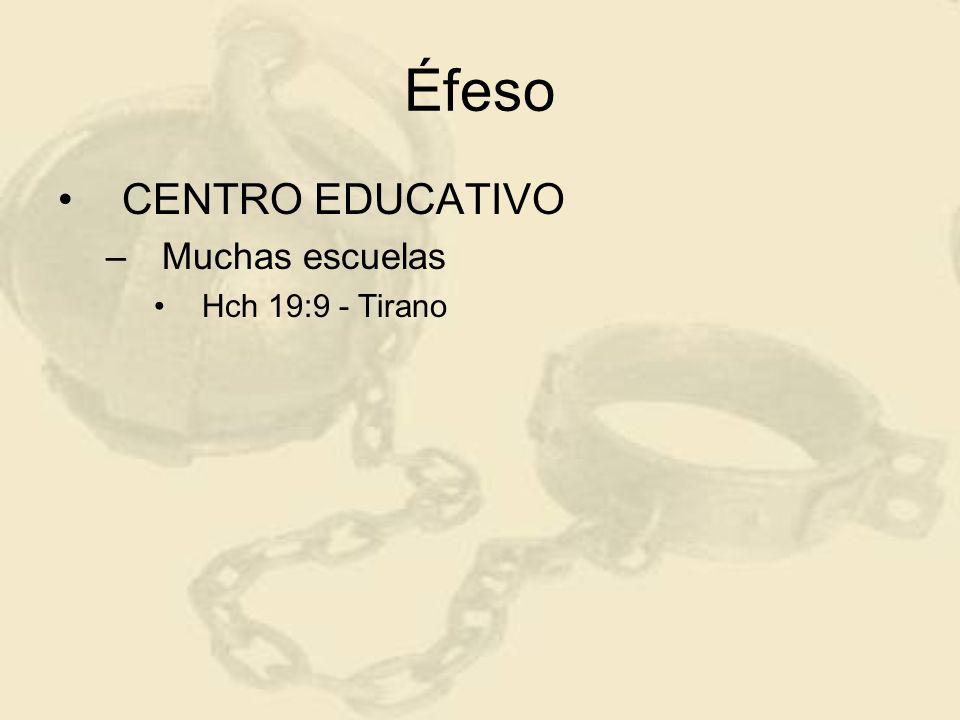 Éfeso CENTRO EDUCATIVO Muchas escuelas Hch 19:9 - Tirano