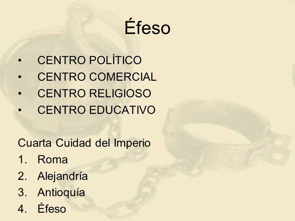 Éfeso CENTRO POLÍTICO CENTRO COMERCIAL CENTRO RELIGIOSO