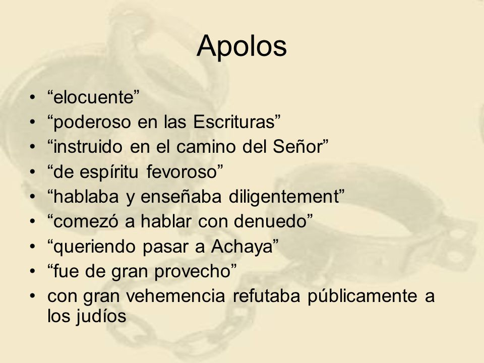 Apolos elocuente poderoso en las Escrituras
