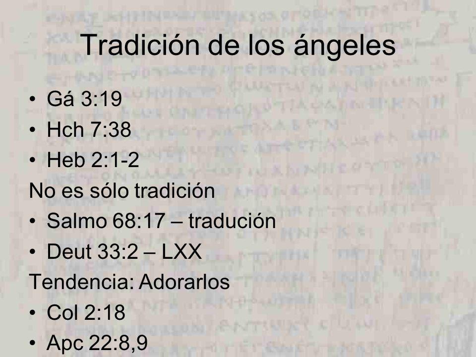 Tradición de los ángeles