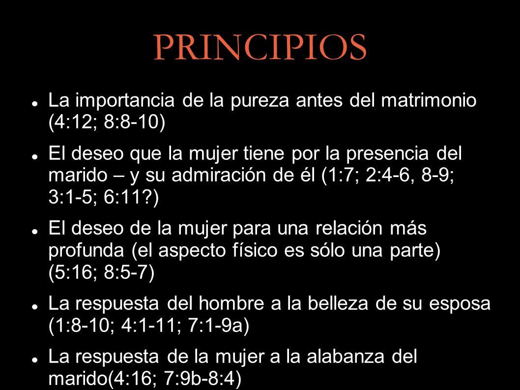 PRINCIPIOS La importancia de la pureza antes del matrimonio (4:12; 8:8-10)