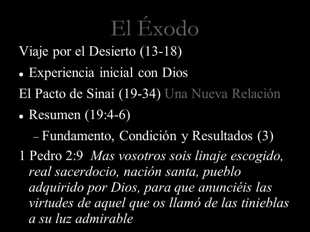 El Éxodo Viaje por el Desierto (13-18) Experiencia inicial con Dios
