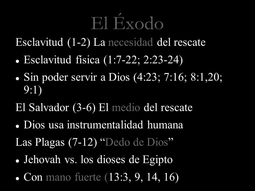 El Éxodo Esclavitud (1-2) La necesidad del rescate