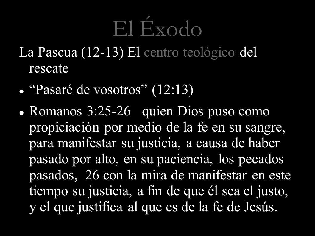El Éxodo La Pascua (12-13) El centro teológico del rescate