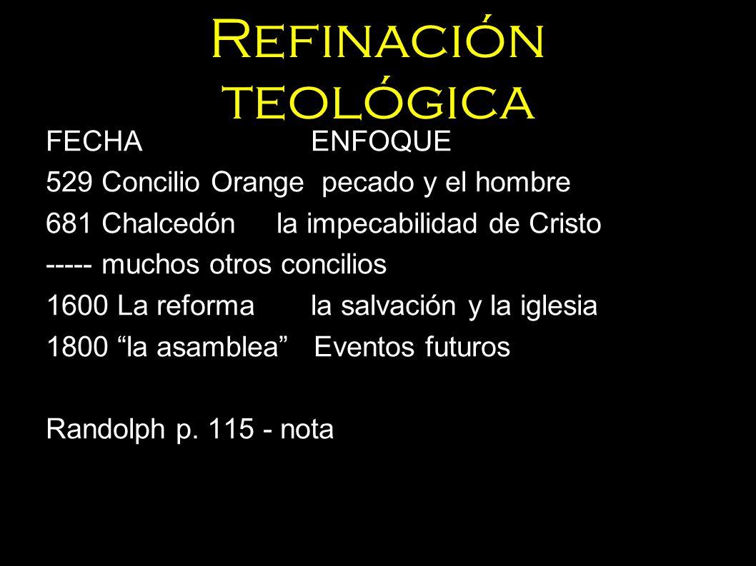 Refinación teológica FECHA ENFOQUE