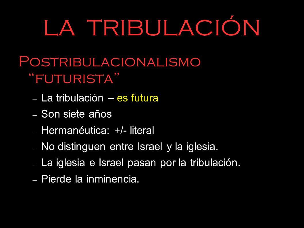 LA TRIBULACIÓN Postribulacionalismo futurista