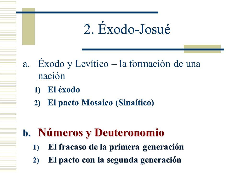 2. Éxodo-Josué Números y Deuteronomio