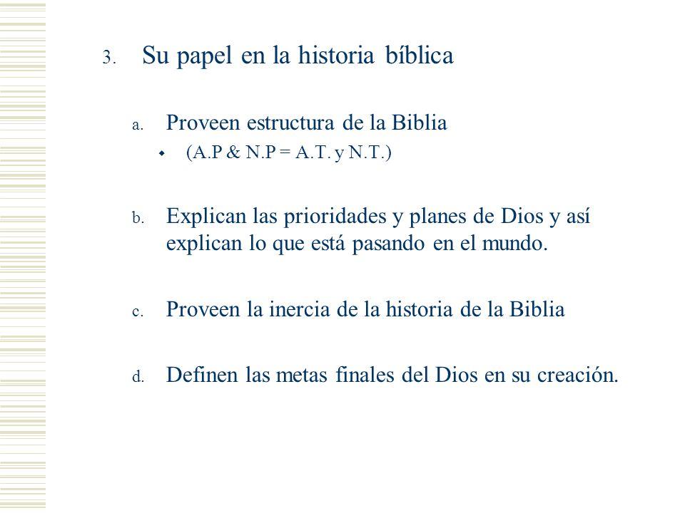 Cosas que notar Su papel en la historia bíblica