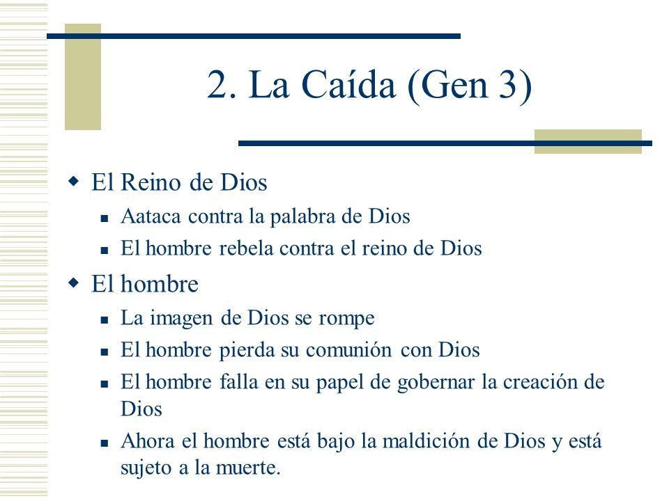 2. La Caída (Gen 3) El Reino de Dios El hombre