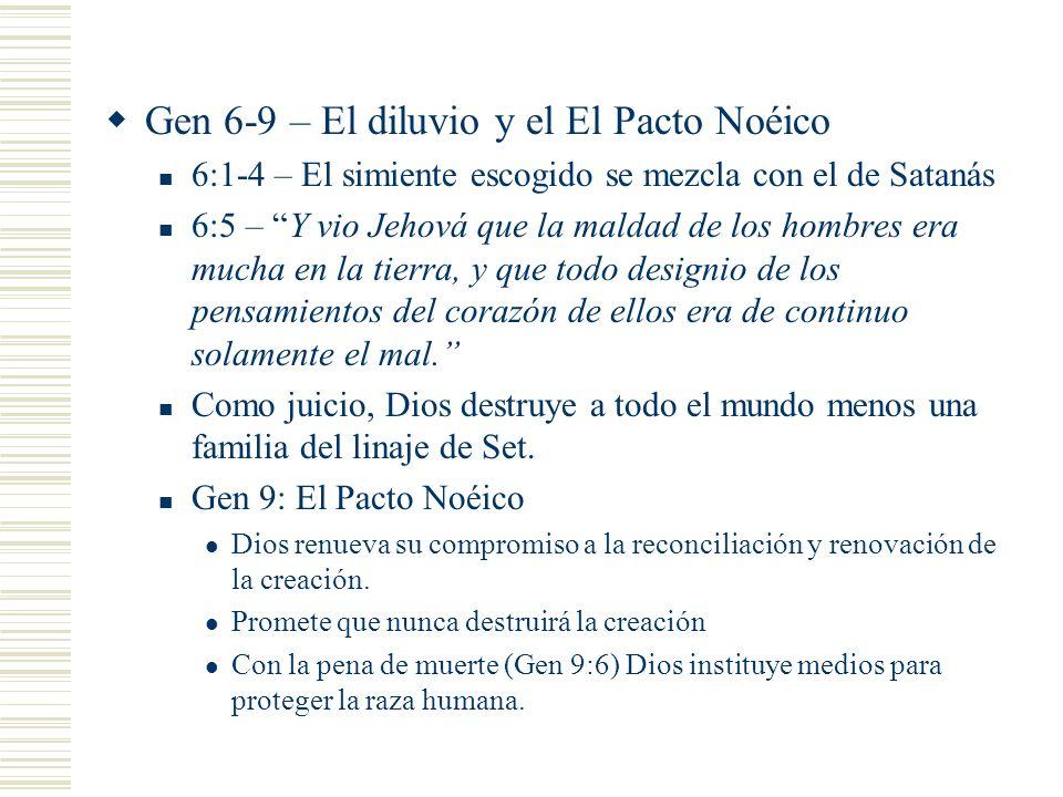 Gen 6-9 – El diluvio y el El Pacto Noéico