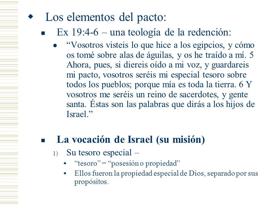 Los elementos del pacto: