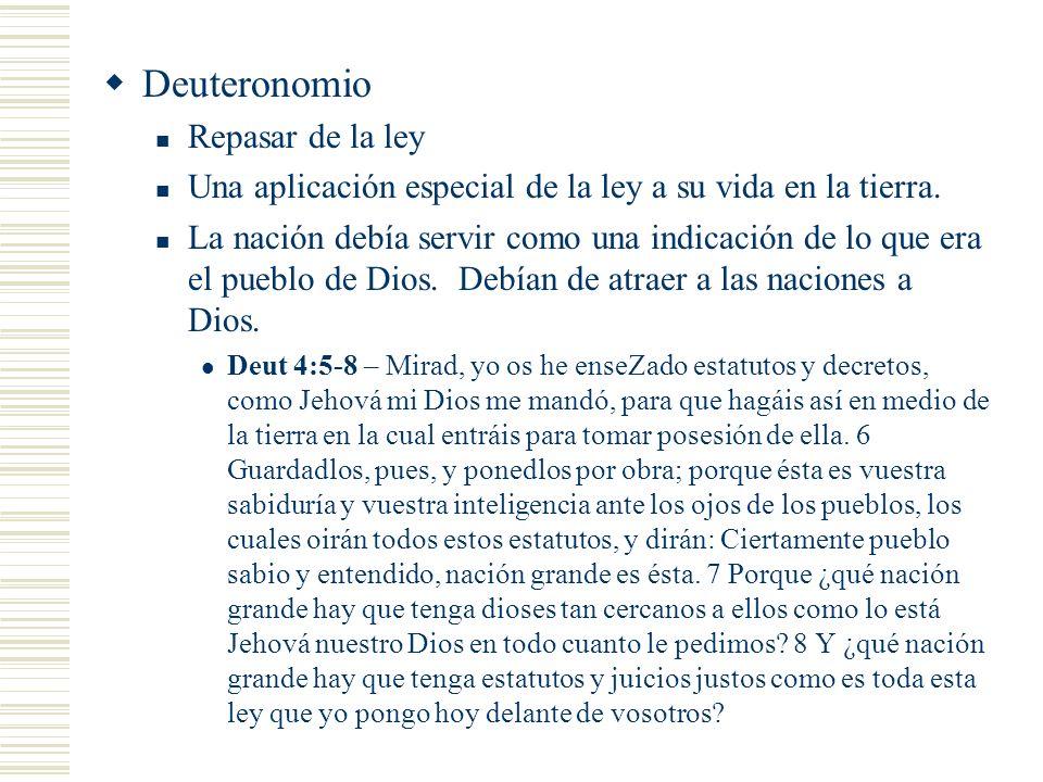 Deuteronomio Repasar de la ley