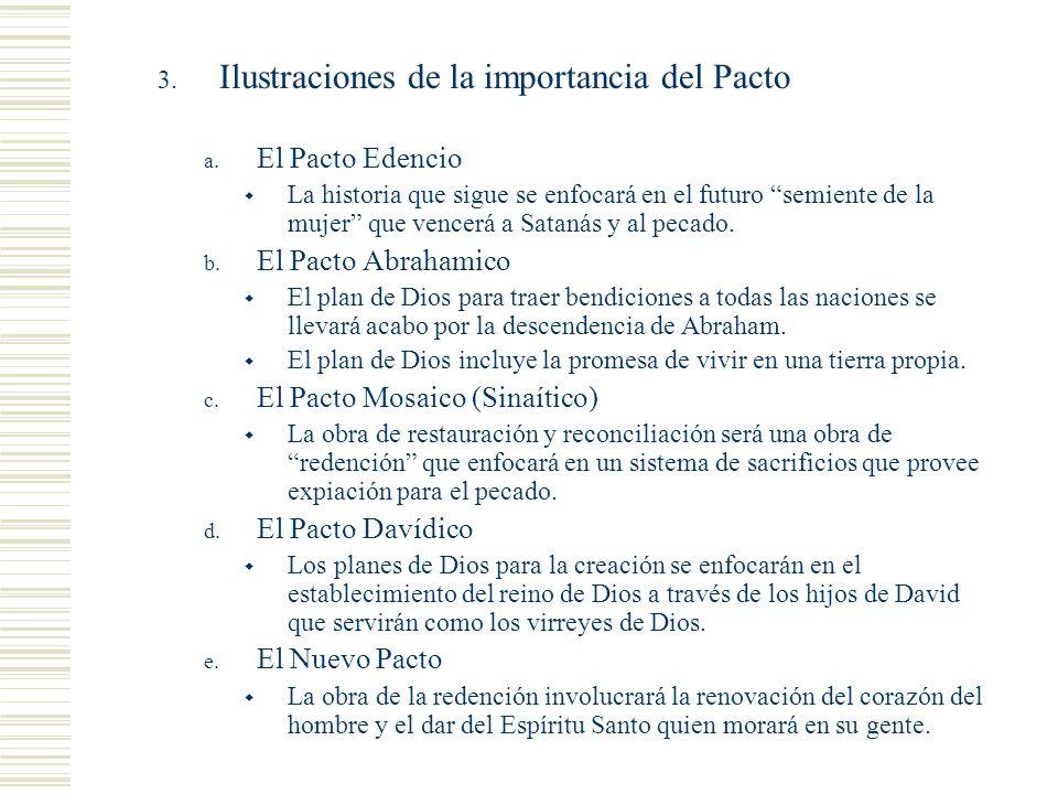 Cosas que notar Ilustraciones de la importancia del Pacto
