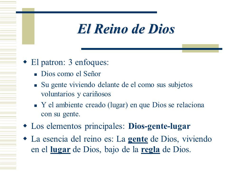 El Reino de Dios El patron: 3 enfoques: